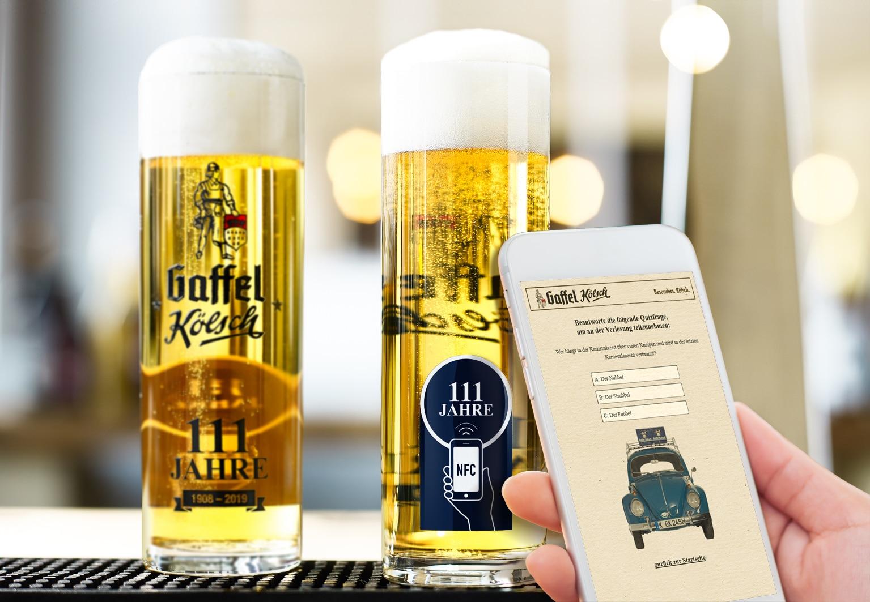 Erstes interaktives Kölsch-Glas mit NFC