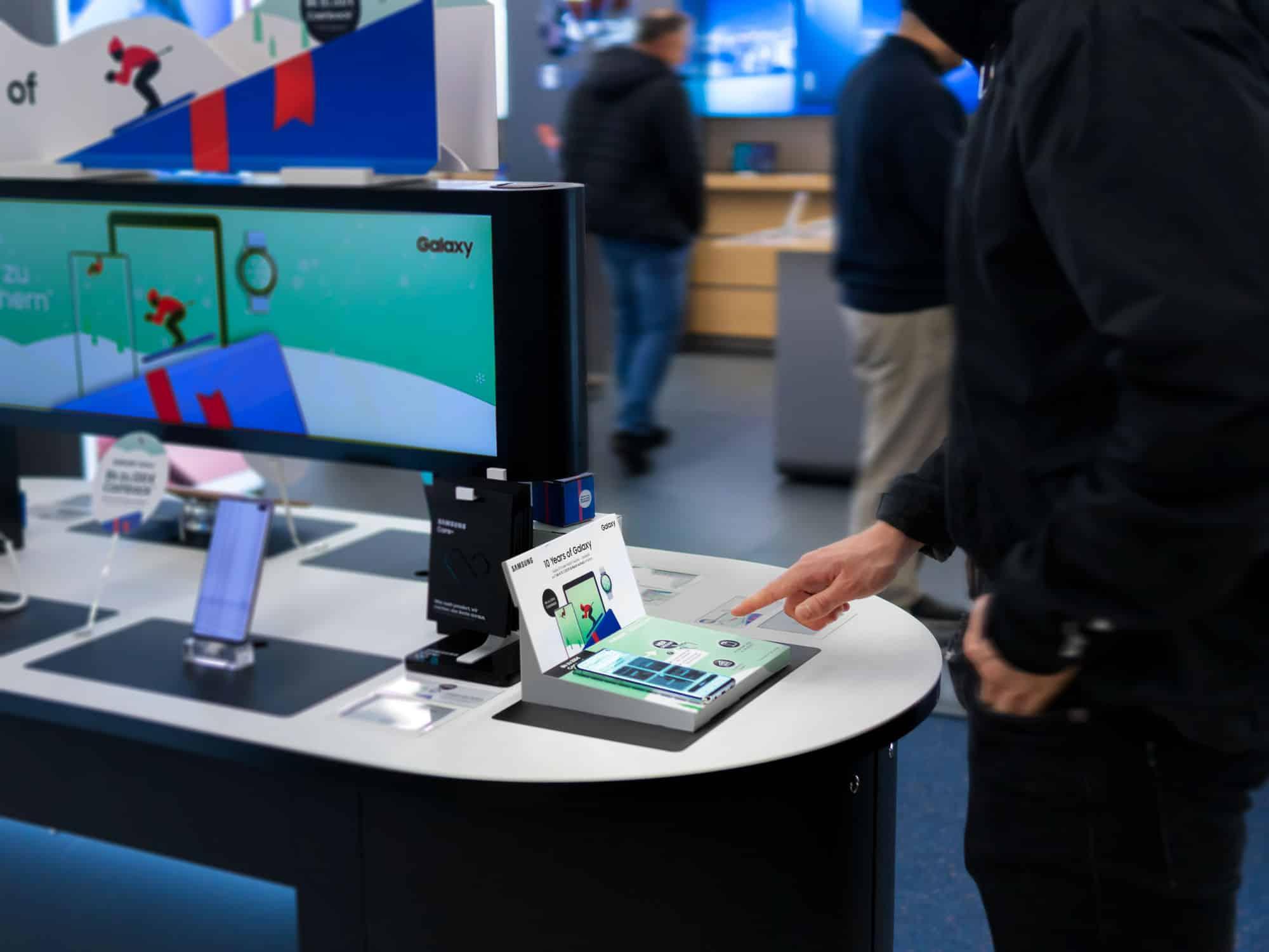 Interaktive Samsung-Werbung mit Interactive Paper