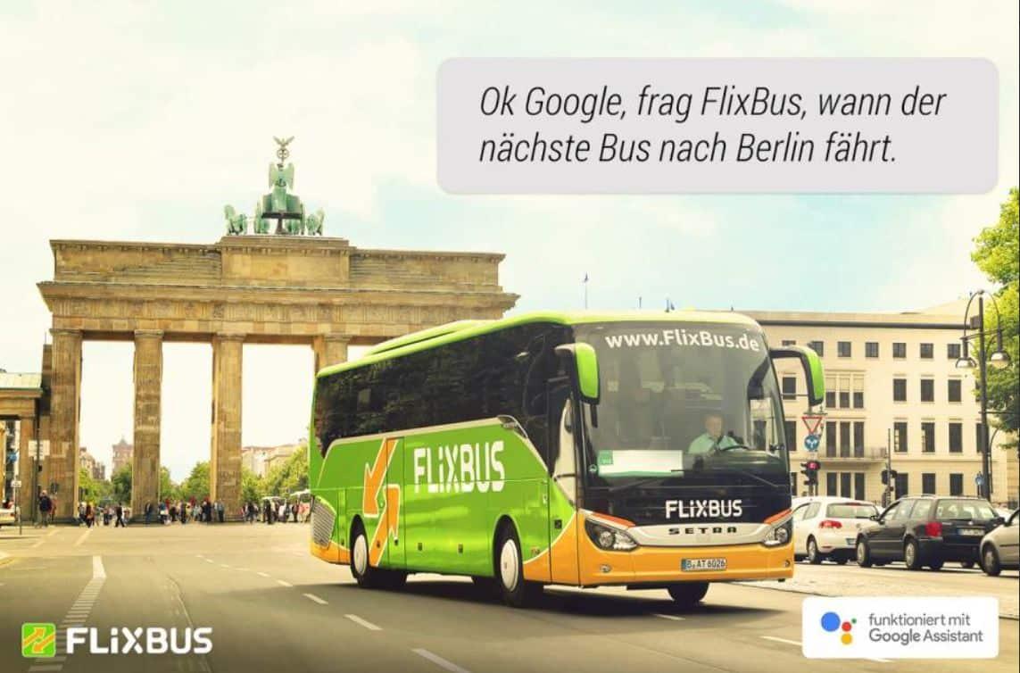 Transactions on Google jetzt auch in Deutschland - Beispiel FlixBus