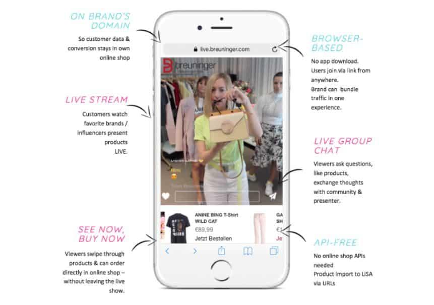 Einkaufen im Live-Stream mit der Assistentin LiSA