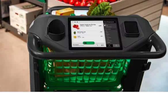 Steuerungszentrale des Amazon Dash Cart