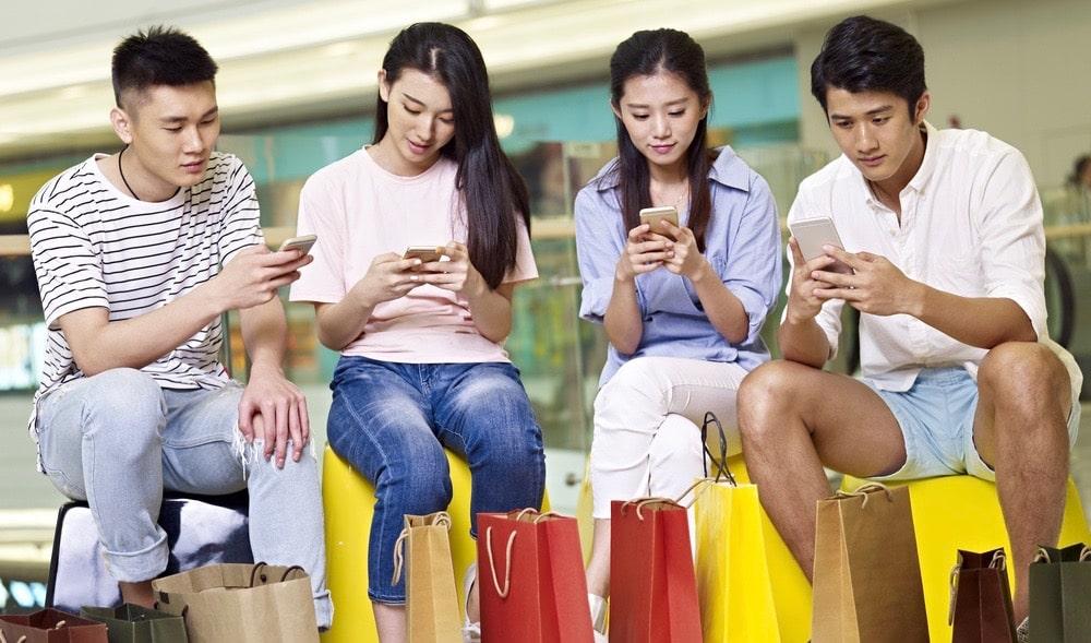 Chinesen kaufen ein, wann immer sie wollen, wo sie wollen und was sie wollen