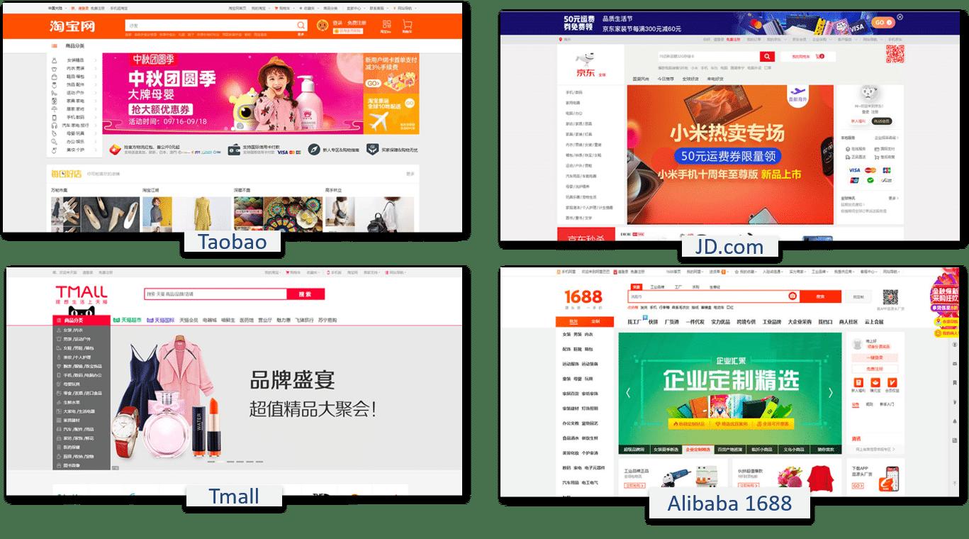 Chinesische Online-Webseiten
